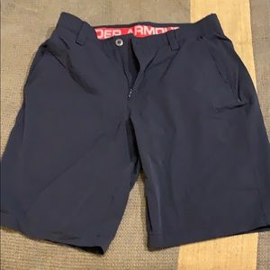 Black UA Golf shorts